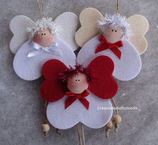 Decoraciones DIY en fieltro para navidad