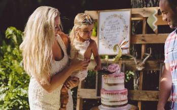 Fiesta de cumpleaños infantil estilo bohemio