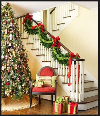 Ideas para decorar escaleras en navidad 38 decoracion de for Ideas para decorar escaleras