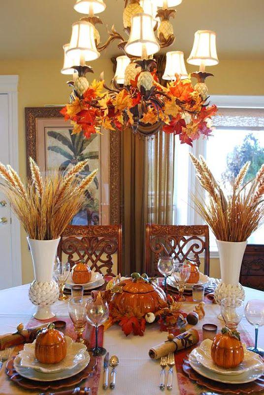 Ideas para decorar tu mesa en accion de gracias 12 for Decoracion de mesa para accion de gracias