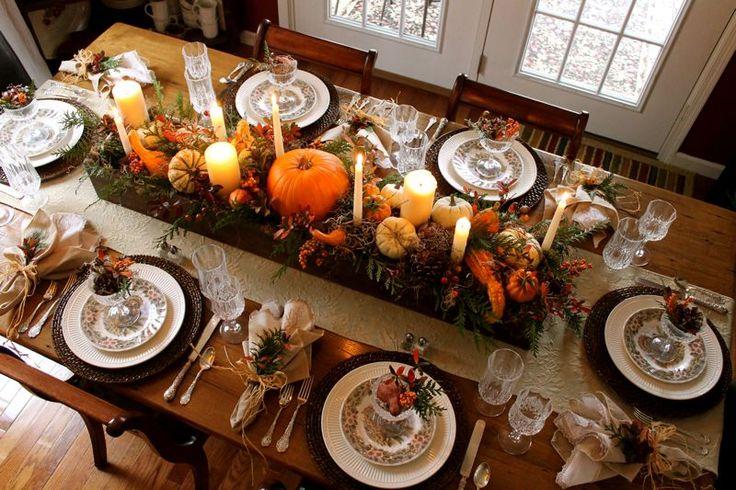 Ideas para decorar tu mesa en acción de gracias