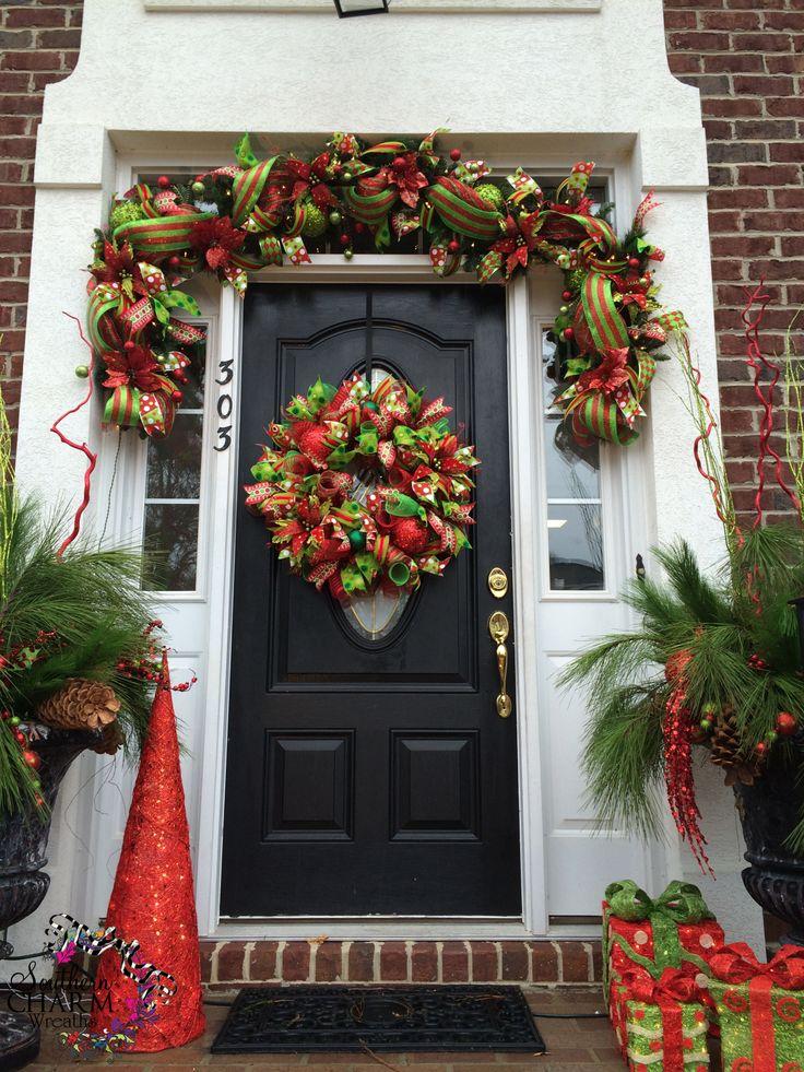 Decoracion de entrada hermosa facil de hacer esta navidad