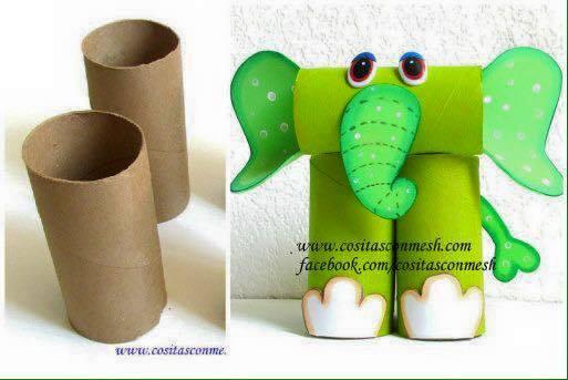 Ideas para reciclar carton de papel higienico 3 - Decoracion con carton de papel higienico ...