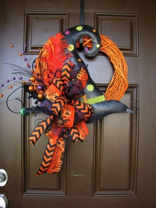 Coronas de halloween para puertas