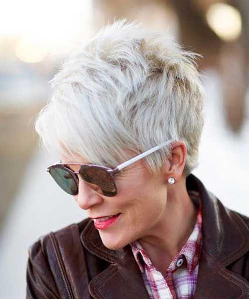 corte de cabello corto o pixie corto mujeres maduras