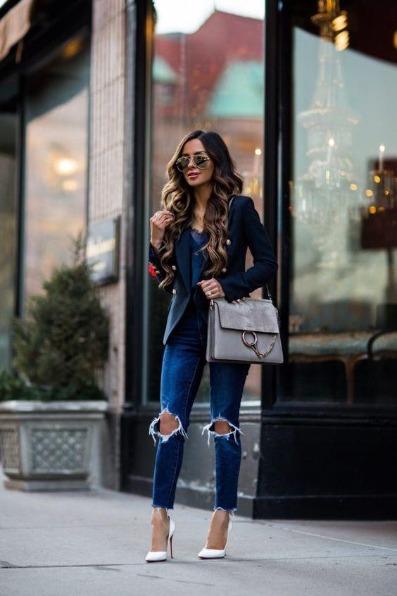 Outfits Con Jeans Rasgados Como Organizar La Casa
