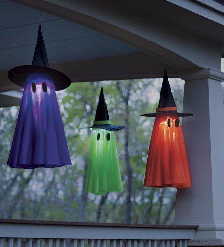 Luces con sombreros flotantes para decorar en halloween