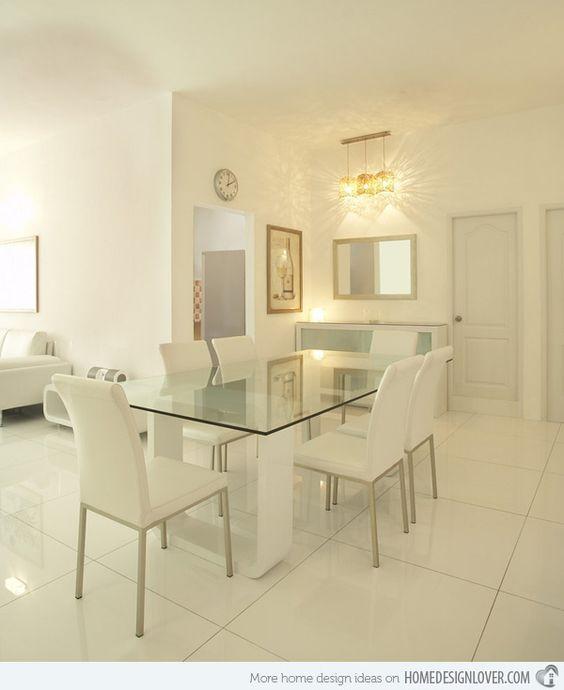 comedores en color blanco 10 decoracion de interiores