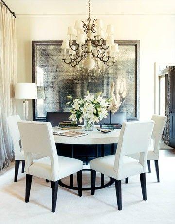 Comedores en color blanco 11 decoracion de interiores for Comedores para casa