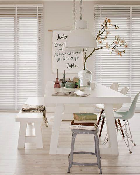 Comedores en color blanco 2 decoracion de interiores for Comedores modernos color blanco