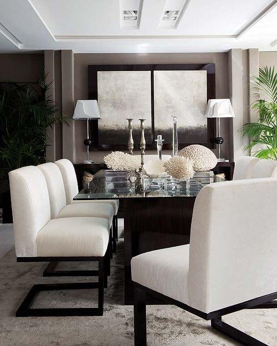 Comedores en color blanco 6 decoracion de interiores for Comedores para casa
