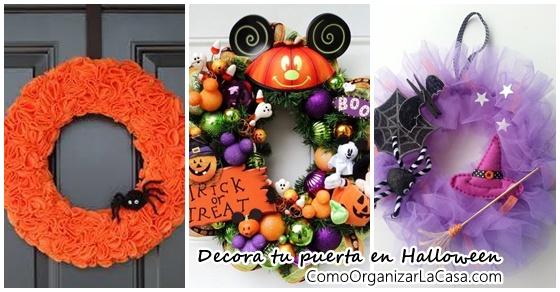 Coronas de Halloween para tu puerta