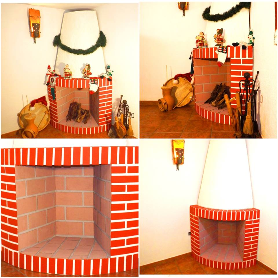 Diy chimeneas de carton o telgopor 13 decoracion de - Chimeneas decoradas para navidad ...