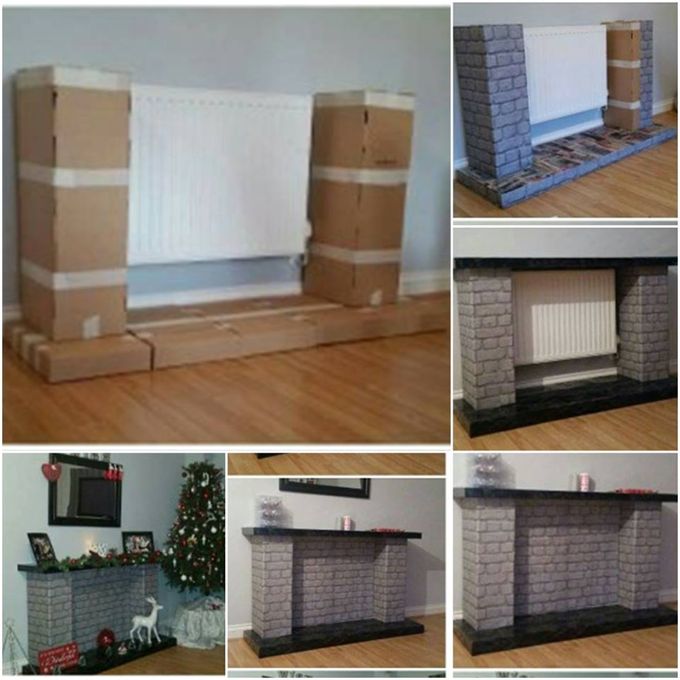 Diy Chimeneas De Carton O Telgopor 18 Decoracion De Interiores  # Muebles Diy De Carton