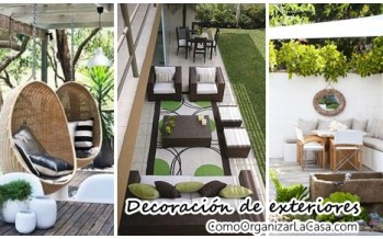decora el exterior de tu casa con comedor y sala de estar