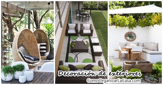 Decora el exterior de tu casa con comedor y sala de estar ...