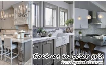 Decoración de interiores – cocinas en color gris