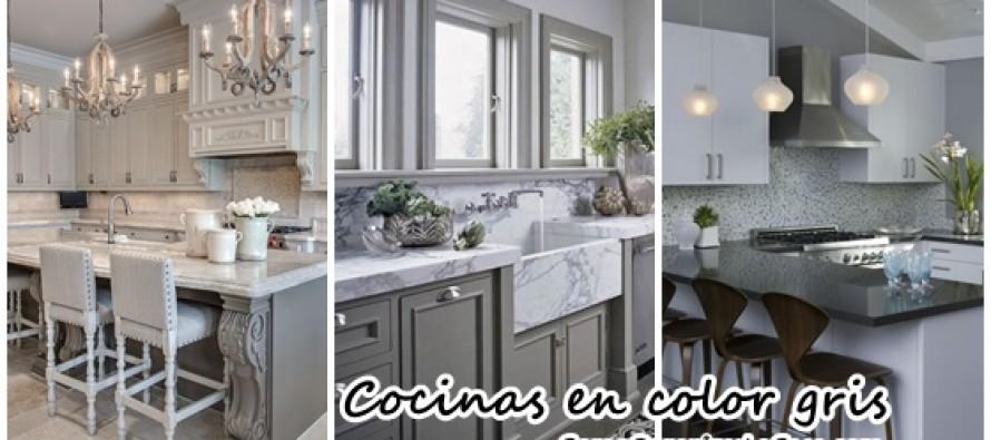 Decoraci n de interiores cocinas en color gris curso for Cocinas en color gris claro