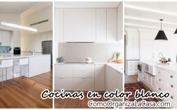 Decoración de interiores en blanco – cocinas
