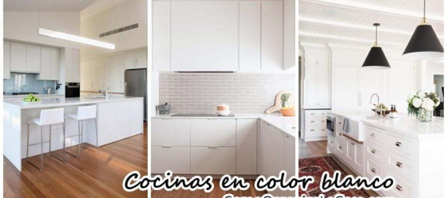 Decoración de interiores en blanco – cocinas