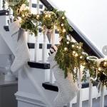 Decoración navideña en color blanco
