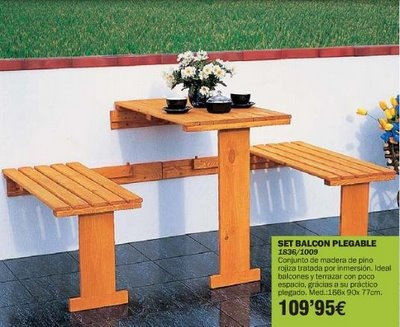 Decoracion de terrazas rusticas tendencia y comodidad 34 for Mesas para terrazas pequenas