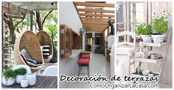 decoracion de terrazas rusticas tendencia y comodidad