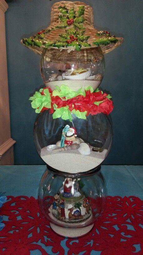 decoraciones navidenas con peceras como organizar la
