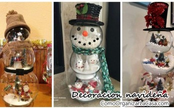 Decoraciones navideñas con peceras