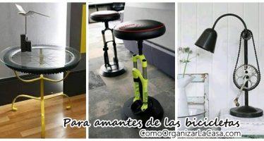 Detalles de decoración para amantes de las bicicletas