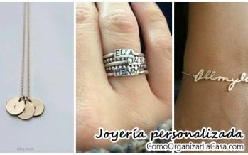 Hermosas ideas de joyería personalizada