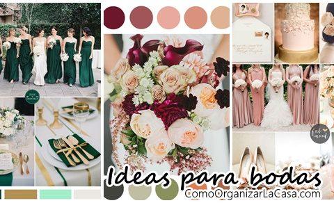 Ideas de color para bodas