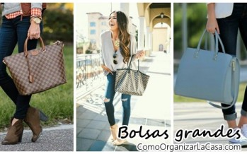 Ideas para combinar tus bolsas grandes