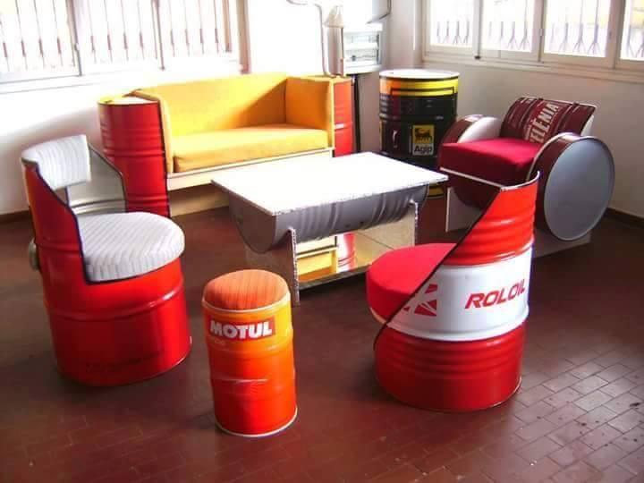 Ideas para reciclar barriles de metal 4 decoracion de for Reciclar muebles de la basura