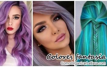 Looks de cabello en colores fantasía