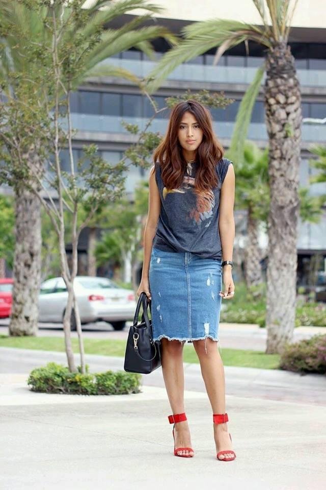33c42cc53 outfits-con-faldas-de-mezclilla-muy-de-moda-2 | Como Organizar la ...