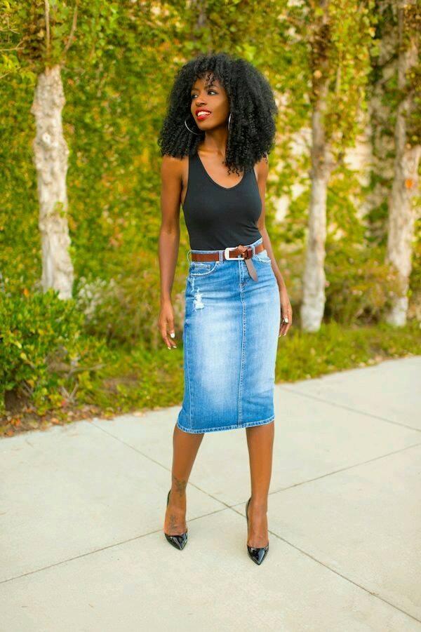 f47c37426 outfits-con-faldas-de-mezclilla-muy-de-moda-25 | Como Organizar la ...