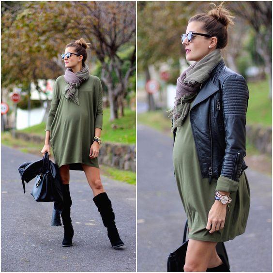 Outfits-de-invierno-para-embarazadas-13 | Decoracion de interiores Fachadas para casas como ...