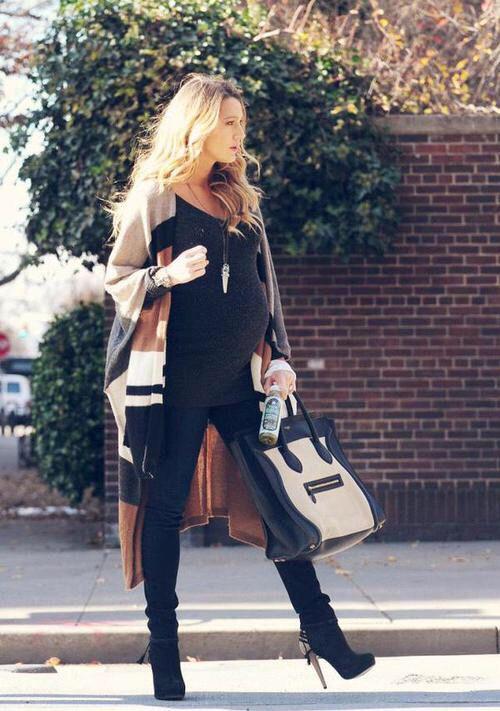 Outfits de invierno para embarazadas