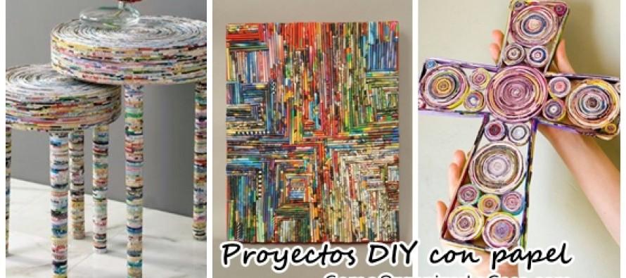 Proyectos DIY con papel reciclado