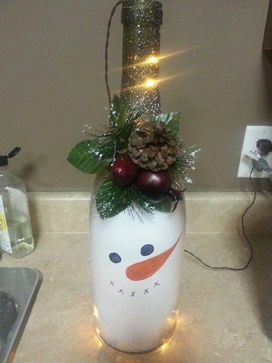 Proyectos navidenos diy con botellas 16 decoracion de - Arreglos navidenos para la casa ...