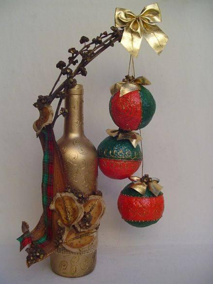 Proyectos navidenos diy con botellas 6 decoracion de - Arreglos navidenos para la casa ...