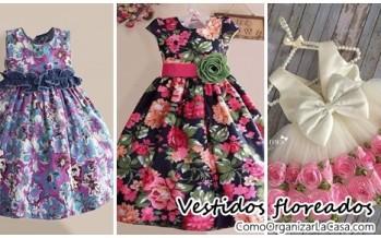 Vestidos floreados para niñas super lindos
