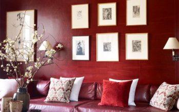 Decoracion de interiores en tono marsala