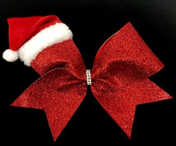 moños metalicos para niñas para navidad
