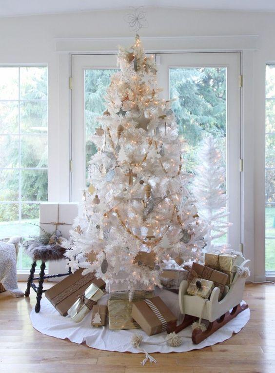 Decoración de arbolitos navideños 2019 blancos