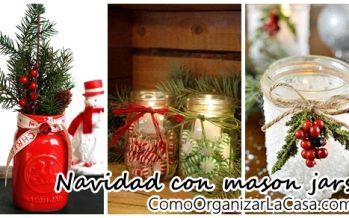 Adornos navideños 2016 con mason jars