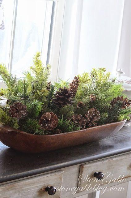 Adornos navidenos 2016 con pinas 10 decoracion de - Adorno navideno con pinas ...