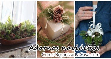 Adornos navideños 2016 con piñas