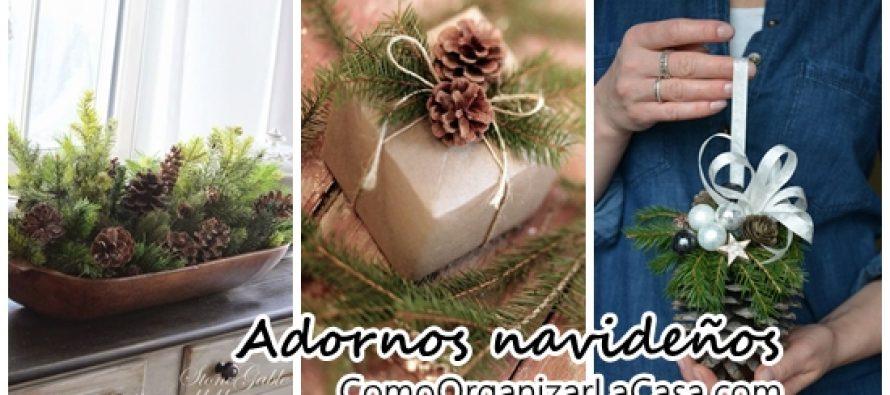 Adornos navide os 2016 con pi as curso de organizacion - Adorno navideno con pinas ...